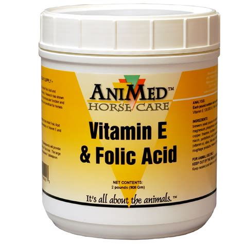Vitamin Folic Acid animed vitamin e folic acid 2 lb