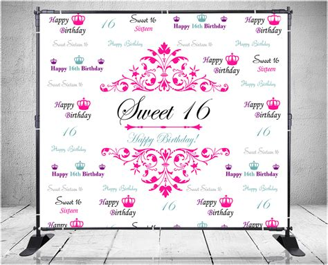 backdrop design sweet 17 backdrops nyc custom step and repeat banners signs ny