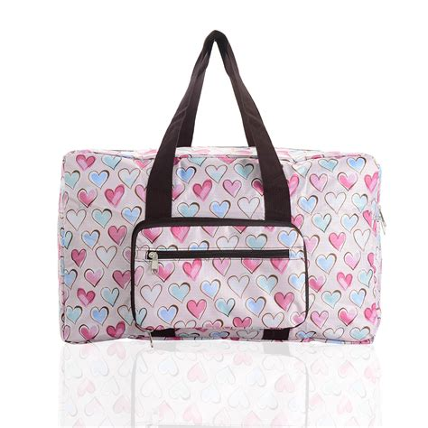 Bag Is Eco Chic by Eco Chic Fold Away Expandable Cabin Bag Holdall Pink