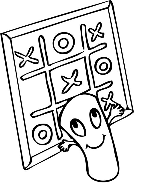 tic tac toe coloring page handipoints