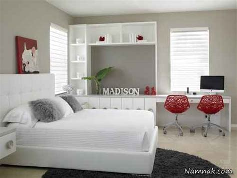 black white and red bedroom ideas 5 small interior ideas عکس