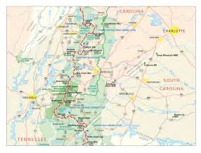 appalachian trail in carolina map burnsville