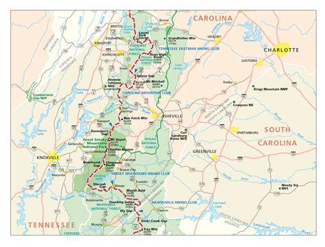 appalachian trail map carolina appalachian trail in carolina map burnsville