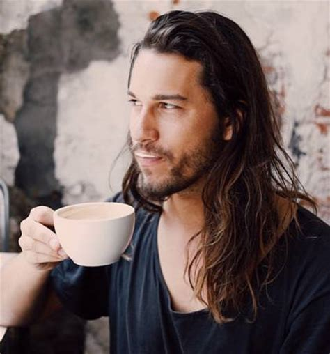 male models with long straight hair long wavy hair for men as the perfect hairstyle long
