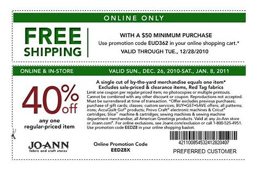 joann fabric coupons 40 off printable