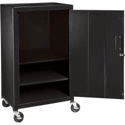 wilson mobile metal cabinet cart locking black model