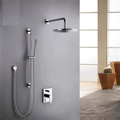 shower bath valve concealed shower faucet valve and slider rail kit