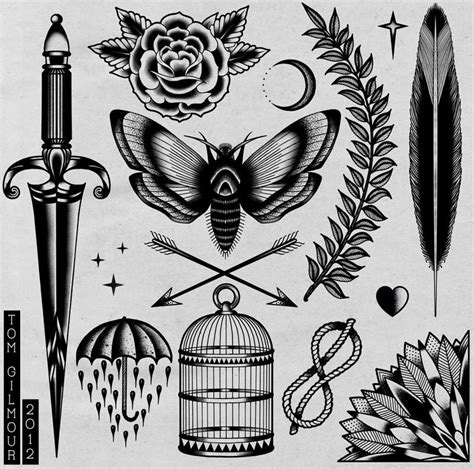 traditional tattoo black and grey flash tattoo flash by tom gilmour tattoos pinterest