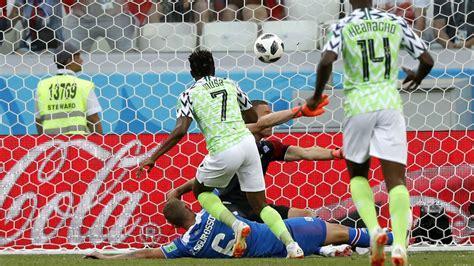 nigeria 2 0 islandia musa da una alegr 237 a a nigeria y a