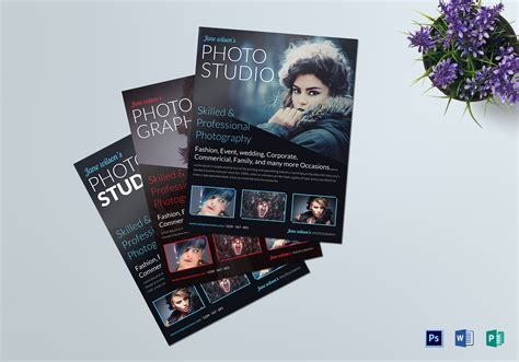 Beautiful Creative Photography Flyer Design Template In Psd Word Publisher Photography Flyer Template Word