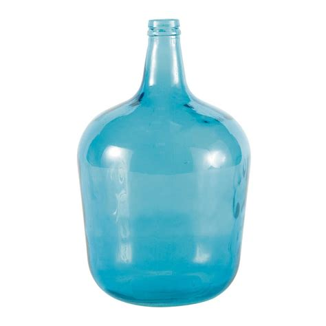 blue glass vase maisons du monde