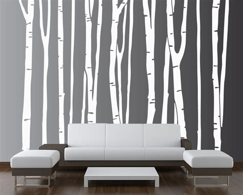 Mirror Wall Murals birch tree vinyl decal forest 1109 innovativestencils