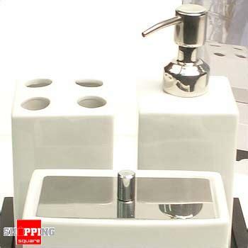 Porcelain Bathroom Accessories Set With Wood Stand Bathroom Accessory Sets Australia
