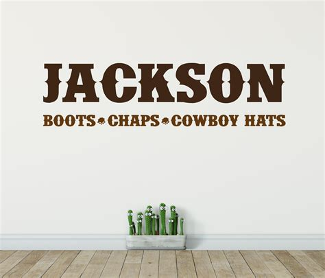 cowboy wall stickers cowboy name wall sticker cowboy wall stickers cowboy