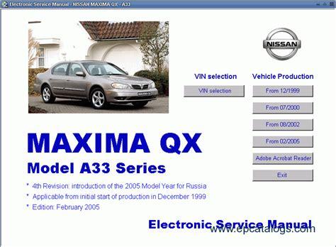 car repair manual download 2005 nissan maxima spare parts catalogs service manual nissan maxima qx