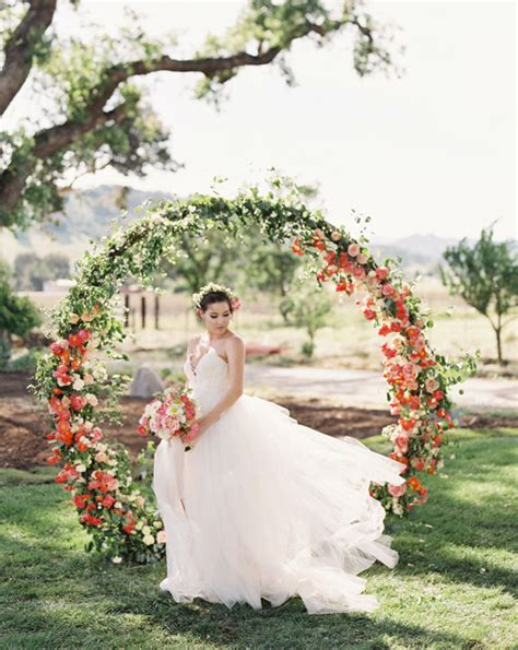 wedding arch circle garden wedding ceremony arches archives weddings romantique