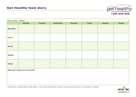Free Online Food Diary Template Doc12751650 Microsoft Word