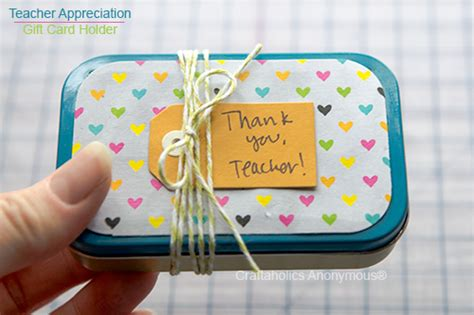 Anonymous Gift Card - craftaholics anonymous 174 teacher appreciation gift altiods gift card holder