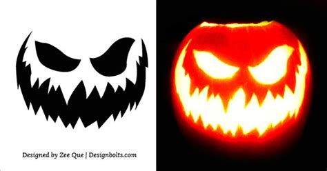 scary pumpkin carving templates 10 free scary pumpkin carving stencils patterns