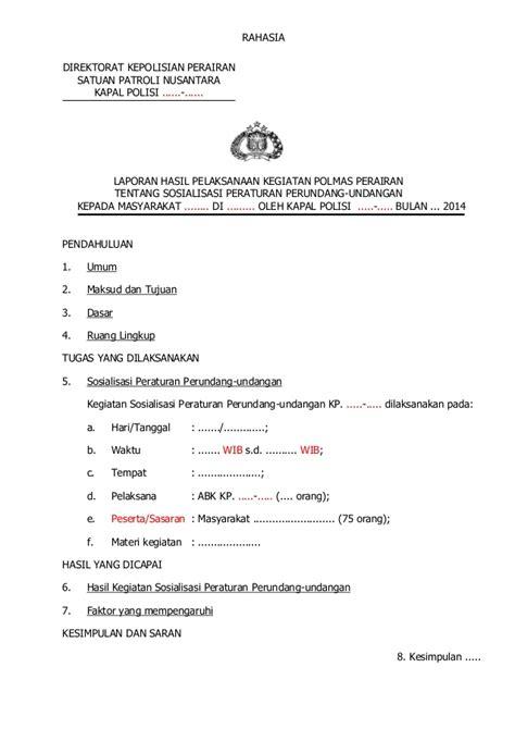 contoh format laporan polmas