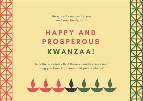 Canva Kwanzaa | cream lighted candles kwanzaa greeting card templates by