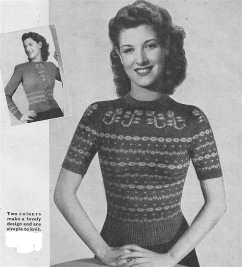 vintage knitting pattern lady vintage ladies fair isle knitting patterns available from