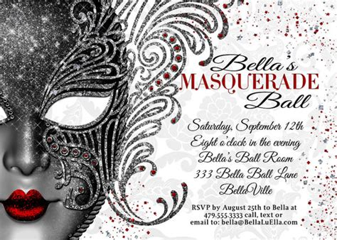 masquerade masquerade invitation mardi gras