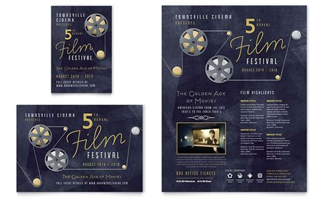 film festival flyer ad template design