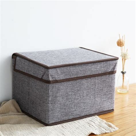 Promo Storage Box 2 Pintu Foldable Cloth Organizer Bamboo C Qu 91f P new cotton environmental folding clothes sorting clothing