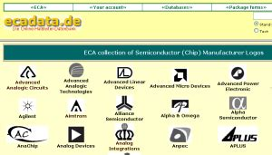 integrated circuit manufacturer codes eca electronic news semiconductor database