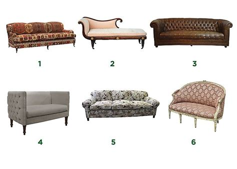couch types furniture styles guide home design jobs