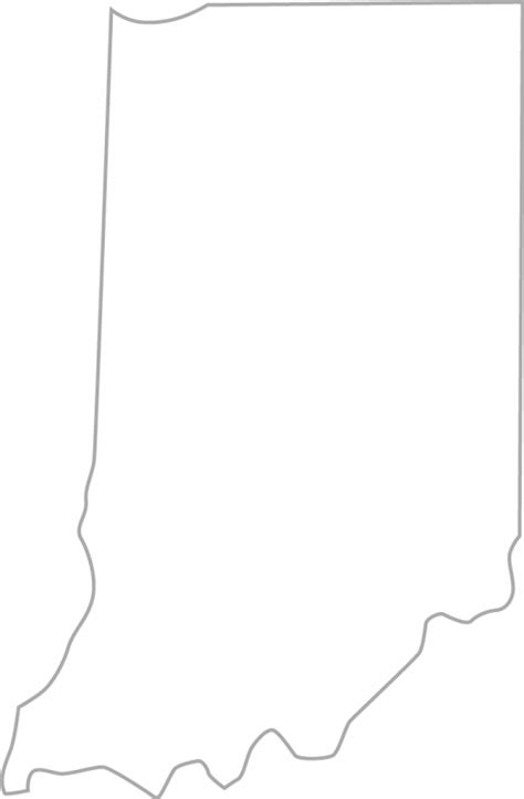 Indiana State Outline Clipart by Indiana Clip 25