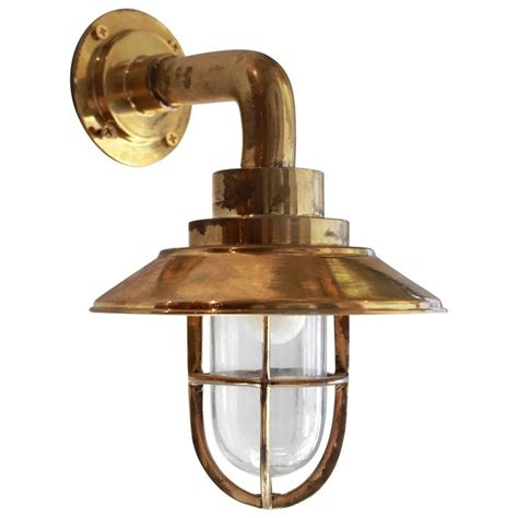 Nautical Wall Sconce Vintage Nautical Brass Bulkhead Sconce At 1stdibs