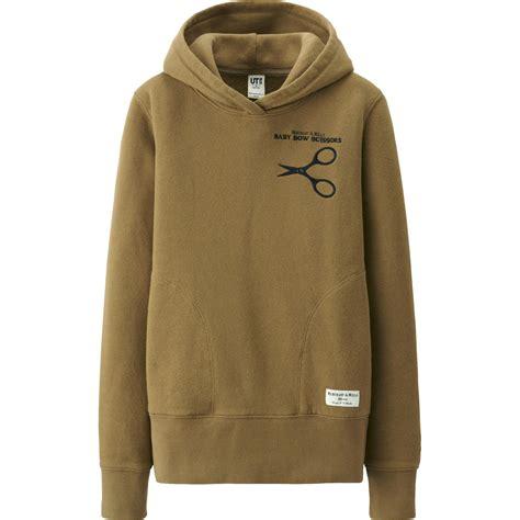 Uniqlo Oversized Hooded Sweat Jacket uniqlo khaki merchant mills sweat pullover hoodie lyst