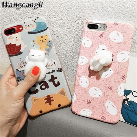 Iphone 6 6s Squishy Lucu by Aliexpress Buy 3d Soft Silicone Squishy Cat
