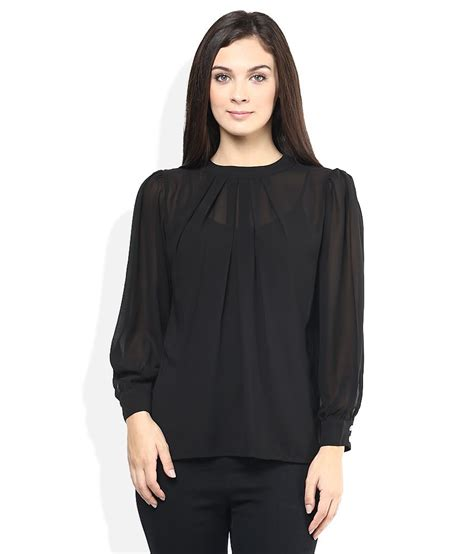 black best buy and black sheer top at best prices in india