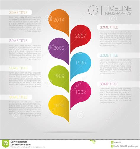 timeline report template vector infographic timeline report template with b stock