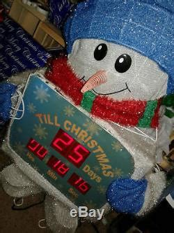 countdown to christmas snowman lighted digital clock yard decor countdown to tinsel snowman digital clock decoration