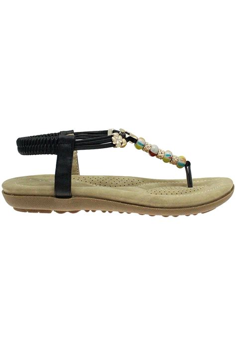 comfortable beach sandals jlh708 beech ladies beaded vibrant comfortable thong
