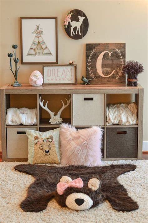 Handmade Nursery Decor Ideas - rug faux rug woodland nursery baby room