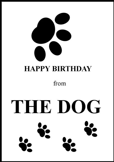 happy birthday greeting card from the dog 1