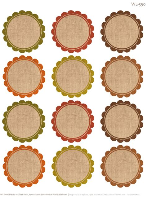 round labels label templates and labels free on pinterest