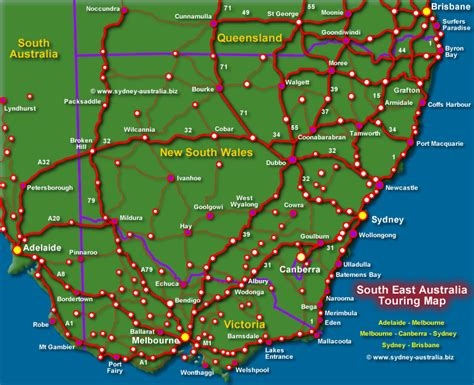 australia touring map nsw touring map