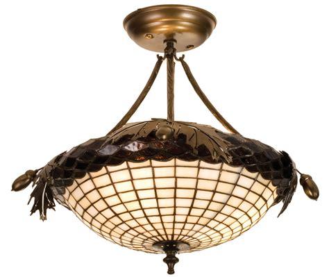 oak ceiling light fixture meyda 98965 greenbriar oak semi flush ceiling fixture