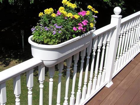 Railing Brackets For Planters by Creative Deck Rail Planter Brackets Into The Glass Option Choice For Deck Railing Planters