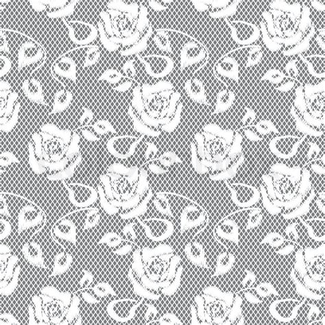 Modern Home Decoration by White Lace Seamless Pattern On Gray Background Stock