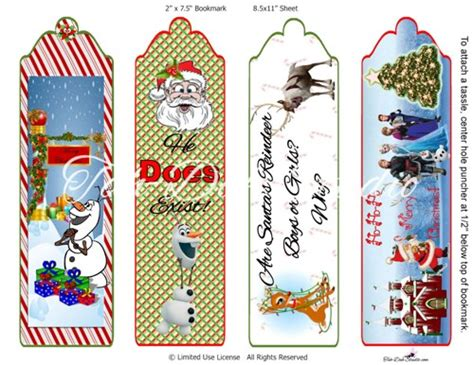 printable frozen bookmarks 4 best images of disney printable bookmarks template