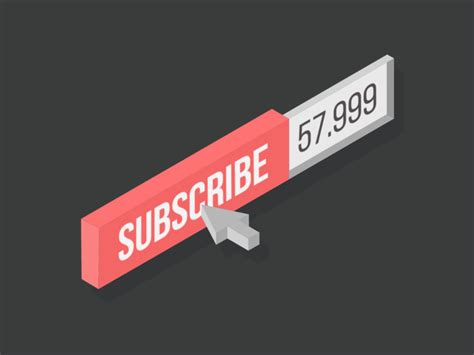 flat isometric subscribe button by pedro aquino dribbble