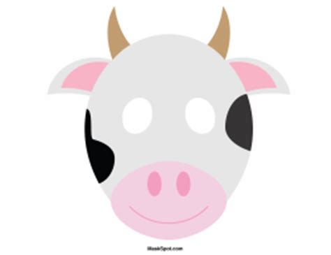 printable mask cow printable cow mask