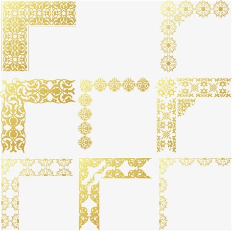 cornici illustrator gold frame vector vector golden frame png and vector